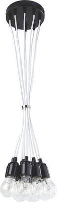 Pendelleuchte Padua 10-flammig - Weiß, MODERN, Kunststoff (22/22/147cm) - Mömax modern living