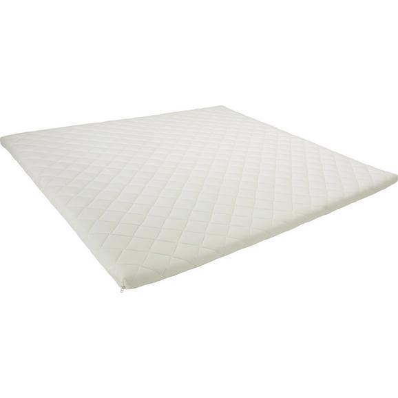 Topper Aus Kaltschaum ca. 180x200cm - Weiß, Textil (180/200cm) - Premium Living
