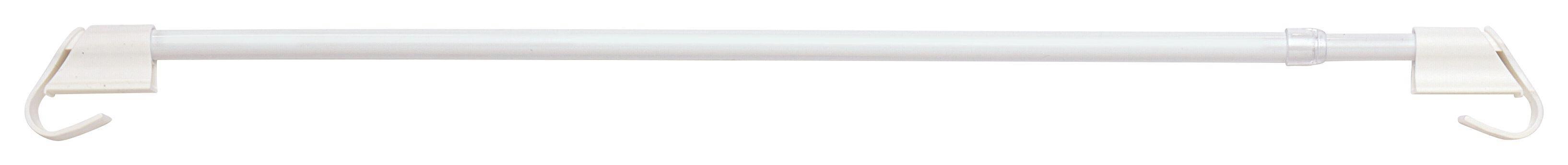 Klemmstange Connect in Weiß, ca. 55-85cm - Weiß, Kunststoff/Metall (55-85cm) - MÖMAX modern living