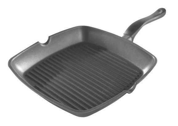 Aluguss Grillpfanne - Schwarz, KONVENTIONELL, Metall (28/28cm) - MÖMAX modern living