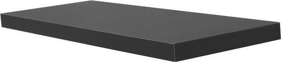 Falipolc Simple - Fekete, modern, Faalapú anyag (80/3,8/23,5cm)