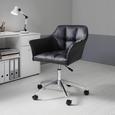 Drehstuhl Boss - Chromfarben/Schwarz, MODERN, Textil/Metall (66/82,5-96,5/64,5cm) - Mömax modern living