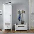 Garderobenschrank in Weiß 'Josh' - Weiß, MODERN, Holz (61/190/40cm) - Bessagi Home