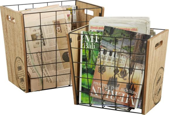 Stojalo Za Časopise Urban - naravna, Moderno, kovina/leseni material (23/28/33cm) - Mömax modern living
