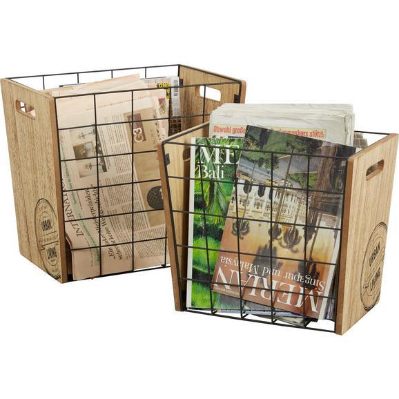 Zeitungsständer Naturfarben, 2er Set - Naturfarben, MODERN, Holzwerkstoff/Metall (23/28/33cm) - Mömax modern living