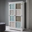Kleiderschrank Avery - Multicolor, MODERN, Holz/Metall (100/182/50cm) - Modern Living