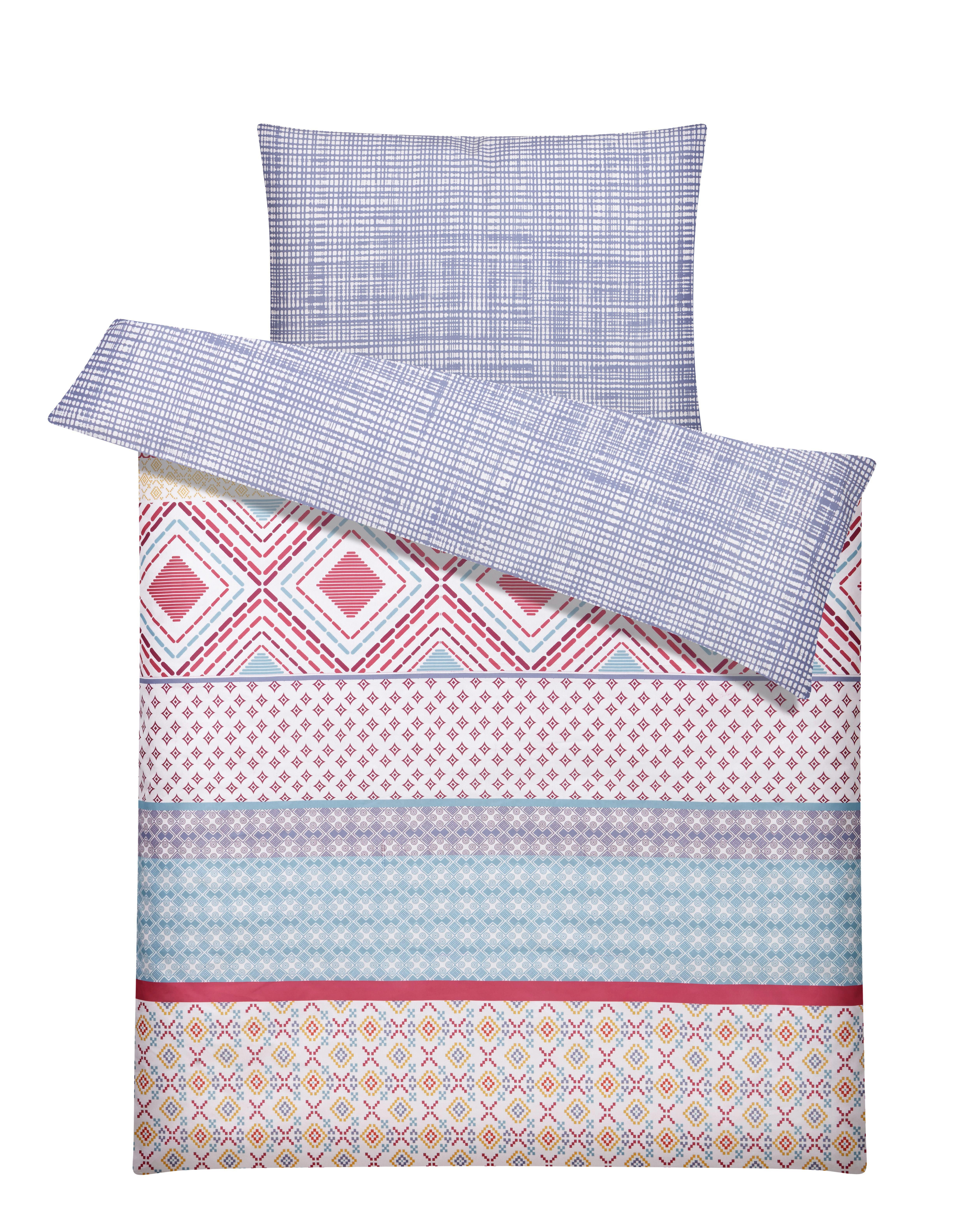 Bettwäsche S. Oliver Baumwollsatin - Multicolor, MODERN, Textil - S. OLIVER