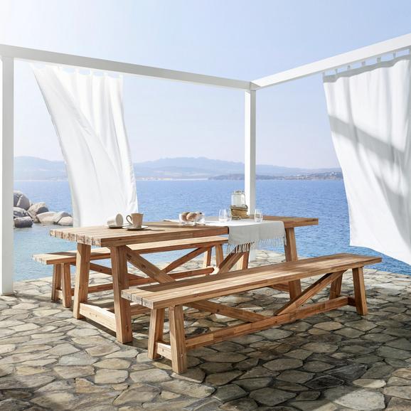 Gartenbank Antigua aus Akazienholz - Akaziefarben, Holz (240/40/45cm) - Premium Living
