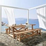 Sitzbank Antigua aus Akazienholz - Akaziefarben, Holz (240/40/45cm) - Premium Living