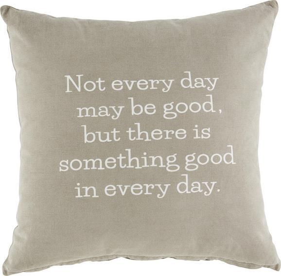 Zierkissen Every Day, ca. 50x50cm - Grau, ROMANTIK / LANDHAUS, Textil (50/50cm) - MÖMAX modern living