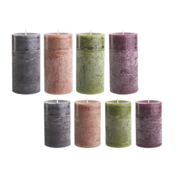 Sveča Holli -top- - lila/svetlo rjava, Moderno (7/14cm) - Premium Living