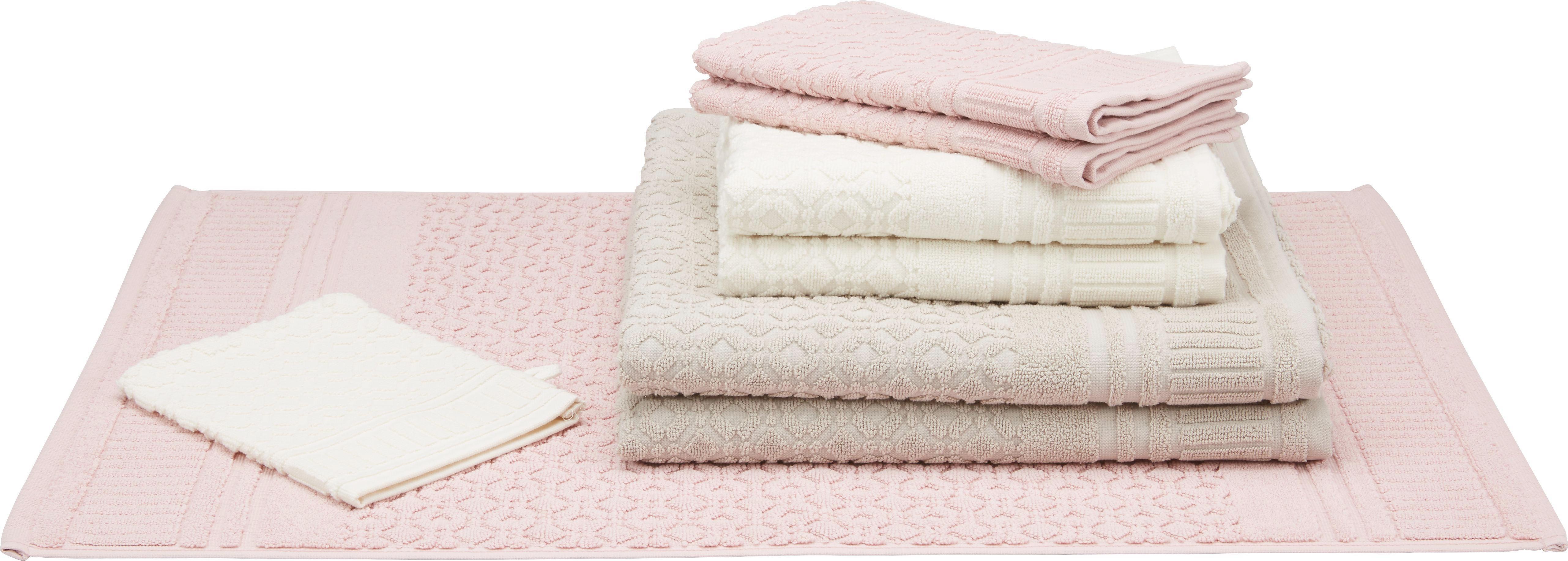Handtuch Carina Aus Rosa - Rosa, ROMANTIK / LANDHAUS, Textil (50/100cm) - MÖMAX modern living