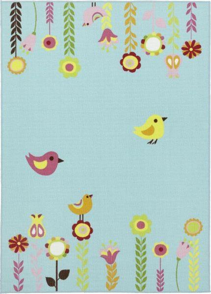 Teppich Flower - Blau, Textil (100/150cm) - MÖMAX modern living