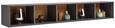 Stenska Polica Arizona - antracit, Moderno, leseni material (172/26/32cm) - Premium Living