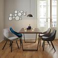 Stuhl Goldie - Dunkelgrau/Schwarz, MODERN, Holz/Textil (58,5/59/84cm) - Modern Living