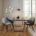 Stuhl Goldie - Petrol/Schwarz, MODERN, Holz/Textil (58,5/59/84cm) - Modern Living