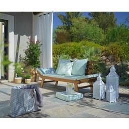 Vrtna Klop Mallorca 1 - akacija/rjava, tekstil/les (192/68/75cm) - MÖMAX modern living