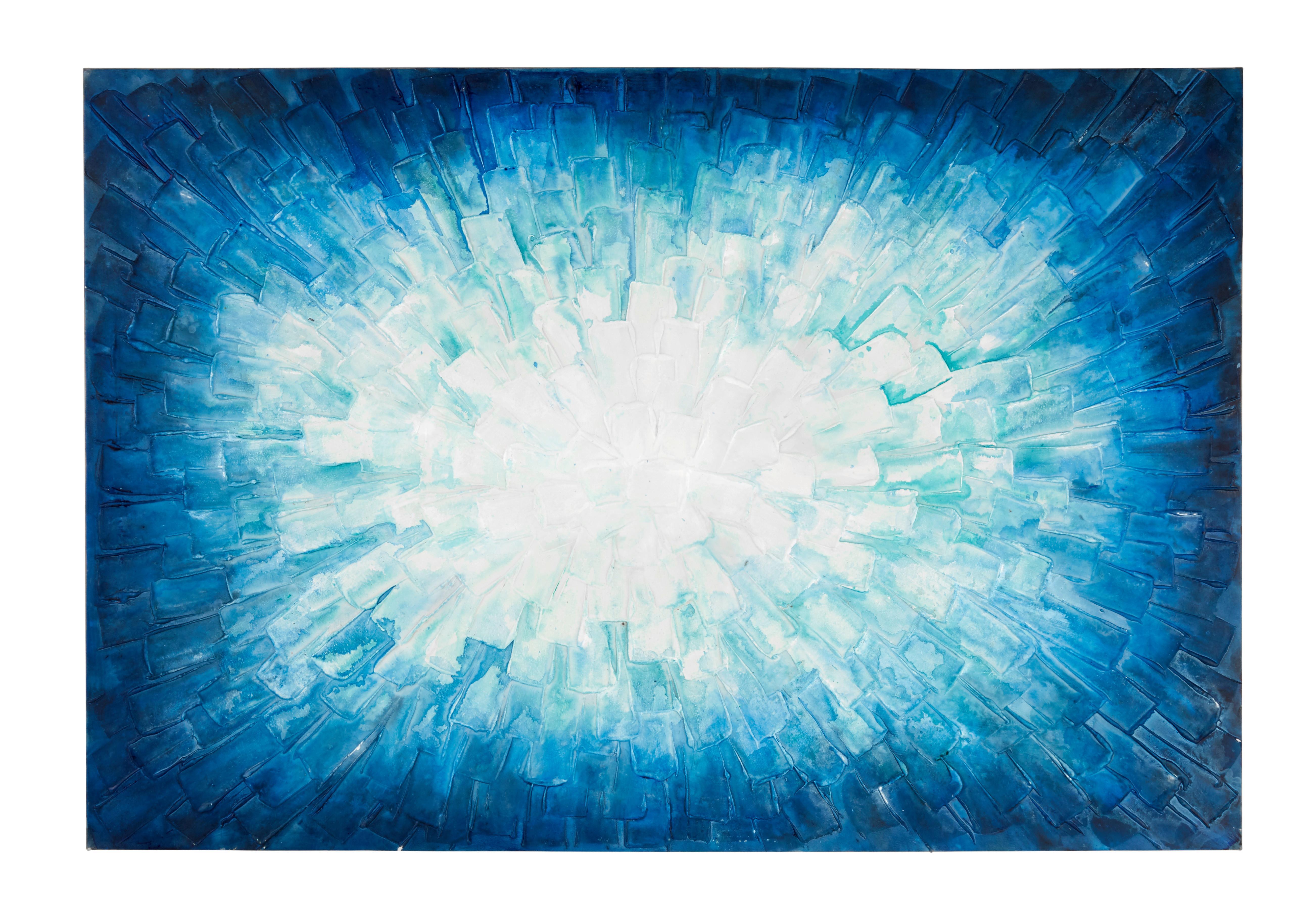 Image of Bild Acryl in Blau/Weiß