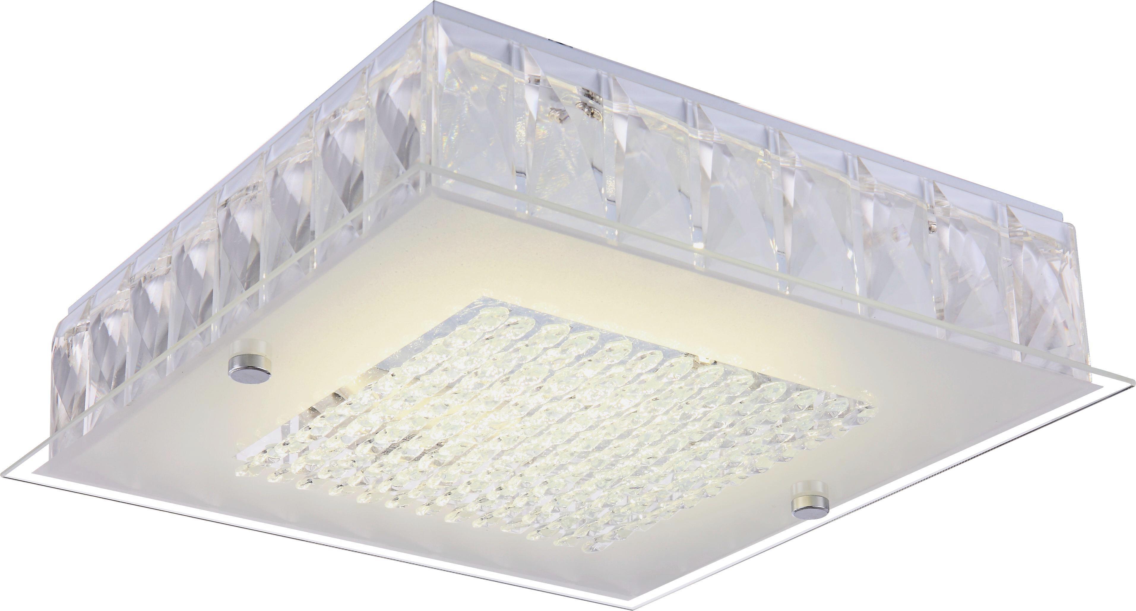 Deckenleuchte Keara, max. 12 Watt - Weiß, MODERN, Glas/Metall (30/30/8cm) - MÖMAX modern living