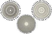Étkező Alátét Aztec - Fehér/Fekete, Textil (38cm)