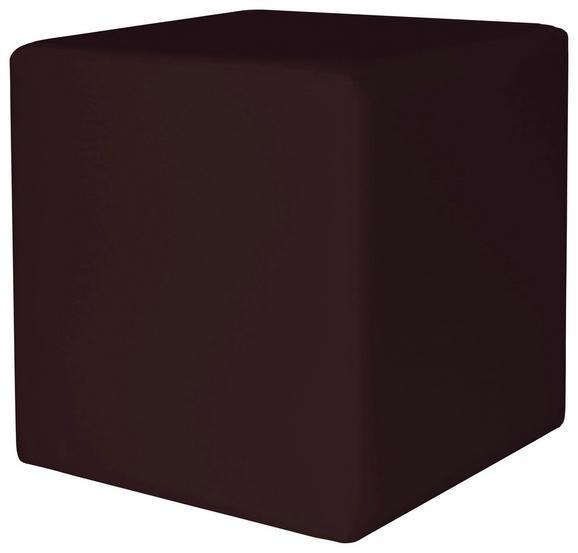 Tabure Colorfull Cube - bež/rjava, Moderno, umetna masa/tekstil (40/40/42cm) - Mömax modern living