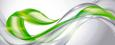 Glasbild Green Flow, ca. 50x125x2cm - Multicolor, MODERN, Glas (50/125/2cm) - MÖMAX modern living