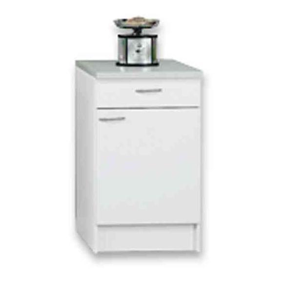 Corp Inferior De Bucătărie Speed  Us 50-50 W - alb, Konventionell, compozit lemnos (50/85/47cm)