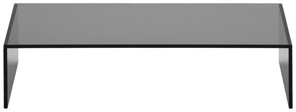 TV-Aufsatz Glas - Dunkelgrau, Glas (60/14/30cm) - Mömax modern living