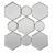 Spiegel in Silber antik ca. 88/85,5/6,5 cm 'Beni' - Silberfarben, MODERN, Glas/Holzwerkstoff (88/85,5/6,5cm) - Bessagi Home
