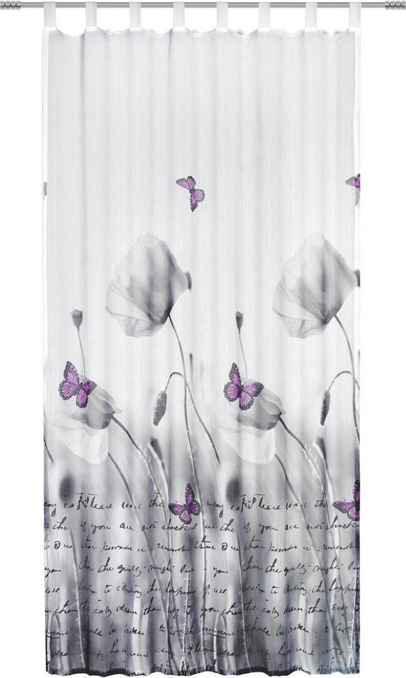 Schlaufenschal Poppy, ca. 135x245cm - Weiß/Grau, ROMANTIK / LANDHAUS, Textil (135/245cm) - Mömax modern living