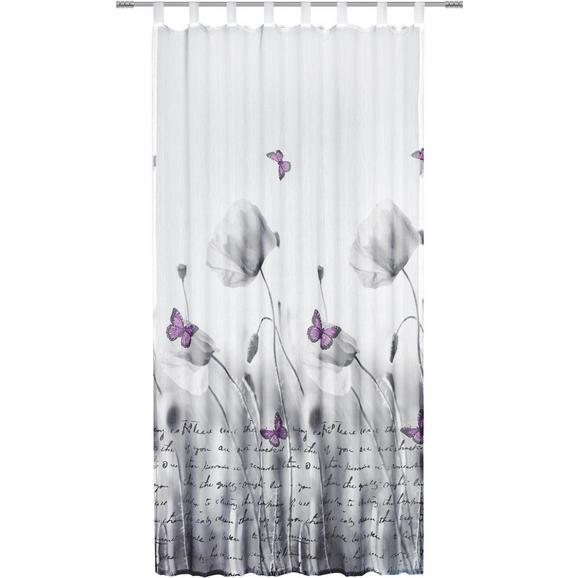 Zavesa Z Zankami Poppy - siva/bela, Romantika, tekstil (135/245cm) - Mömax modern living