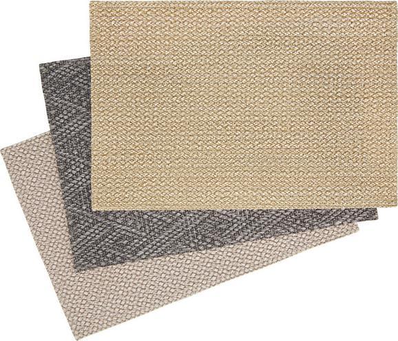 Tischset Eduard in verschiedenen Farben - Sandfarben/Anthrazit, KONVENTIONELL, Textil (30/45cm) - Mömax modern living