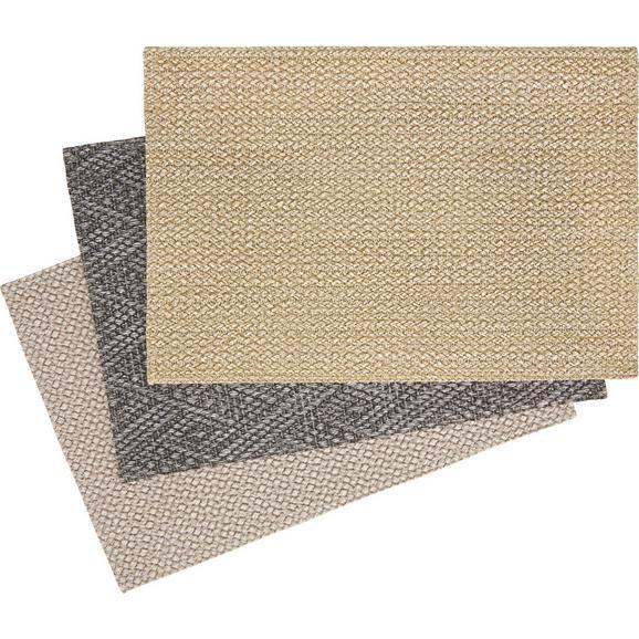 Tischset Eduard verschiedenen Farben - Sandfarben/Anthrazit, KONVENTIONELL, Textil (30/45cm) - Mömax modern living