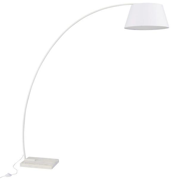 Stehleuchte Nora - Weiß, MODERN, Kunststoff/Stein (173/50/185cm) - MÖMAX modern living