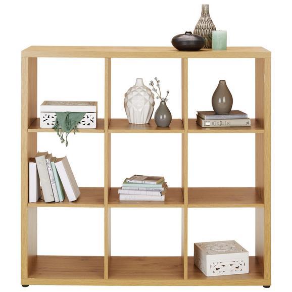 Raumteiler in Eichefarben - MODERN, Holzwerkstoff/Kunststoff (111/111/34cm) - Modern Living