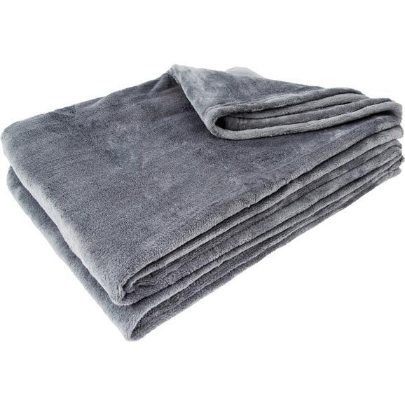 Pătură Pufoasă Kuschelix - antracit, textil (140/200cm) - Modern Living