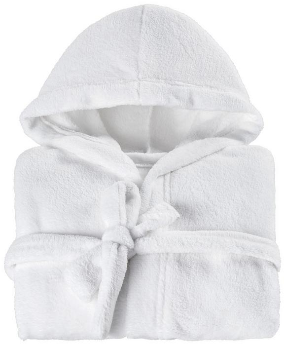 Kupaonski Ogrtač Benji - bijela/tirkizna, Konventionell, tekstil (128-140) - Mömax modern living