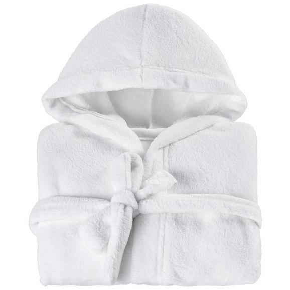 Kupaonski Ogrtač Benji - bijela/tirkizna, Konventionell, tekstil (128-140null) - Mömax modern living