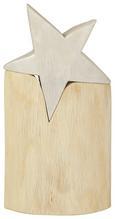 Dekostern Curt H ca. 38 cm - Silberfarben/Naturfarben, MODERN, Holz (38cm)