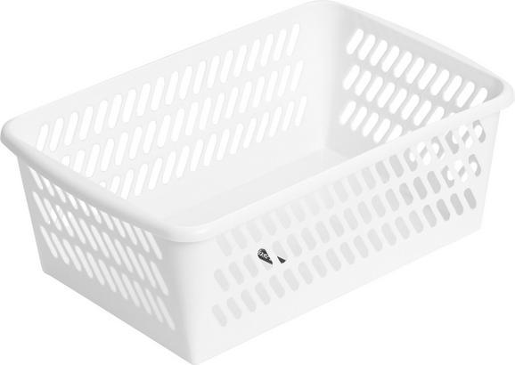Kosár Mimi - fehér, műanyag (30,5/11/20cm) - MÖMAX modern living