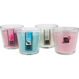 Kerze im Glas Lisa verschiedene Farben - Blau/Klar, Glas (12,5/13,5cm) - Modern Living