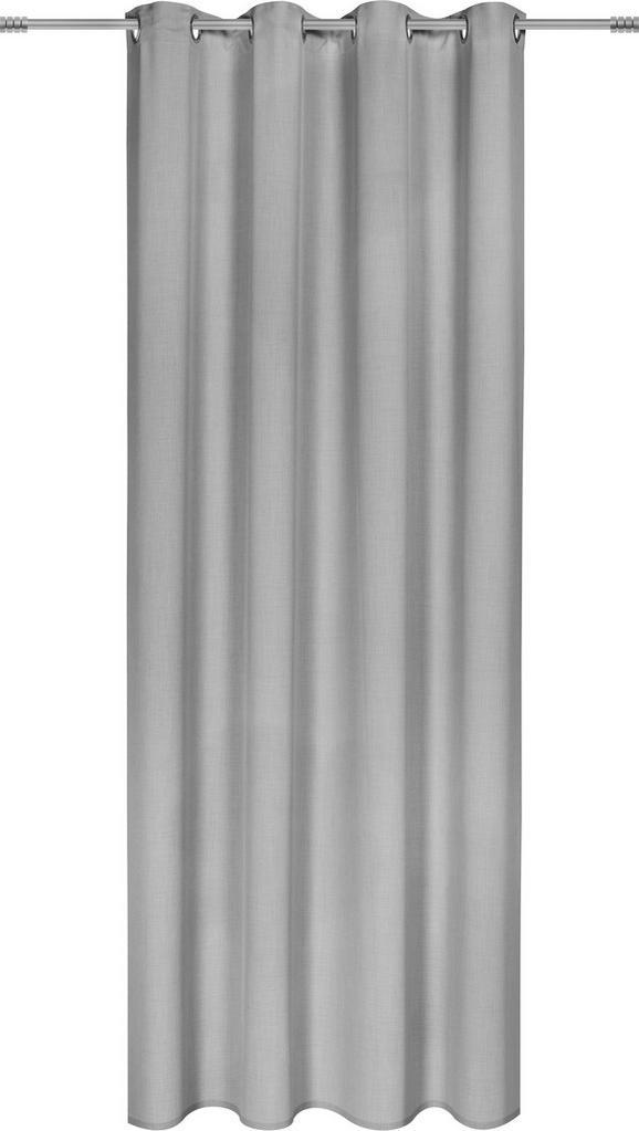 Ösenschal Ulli Grau 140x245cm - Hellgrau, Textil (140/245cm) - Mömax modern living