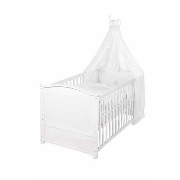 Gitterbett aus Holz in Weiß ca. 70x140cm - Weiß, Holz (80/152/153cm) - Modern Living