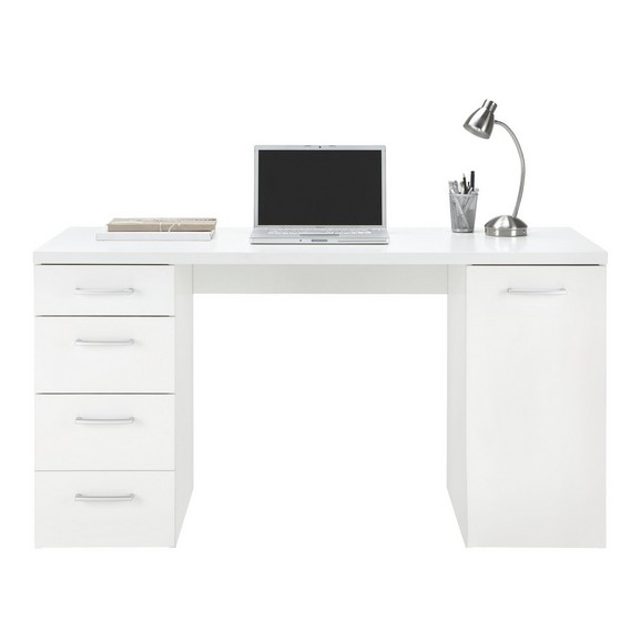 Schreibtisch in wei online kaufen m max for Schreibtisch viel stauraum
