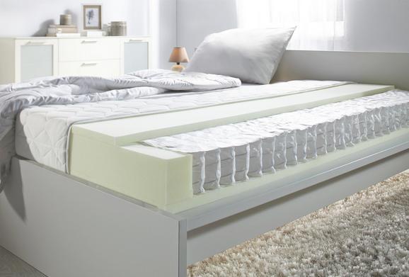 Taschenfederkernmatratze ca. 140x200cm - Weiß, KONVENTIONELL, Textil (140/200/cm) - Nadana