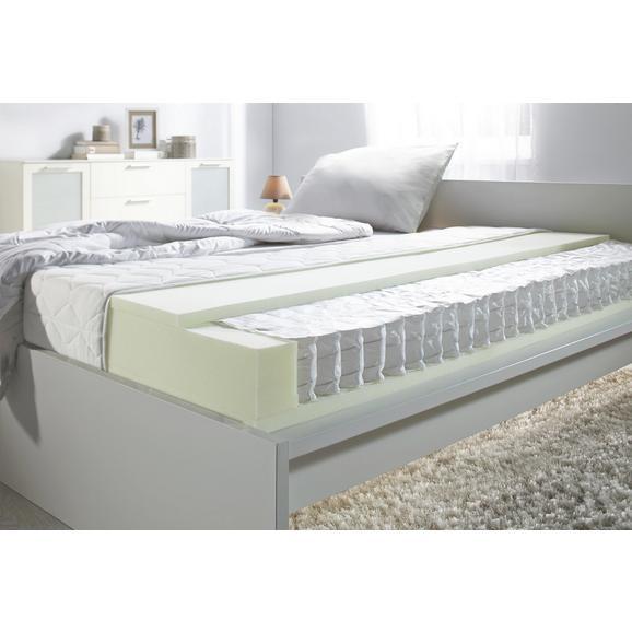 Taschenfederkernmatratze ca. 90x200cm - Weiß, KONVENTIONELL, Textil (90/200cm) - Nadana