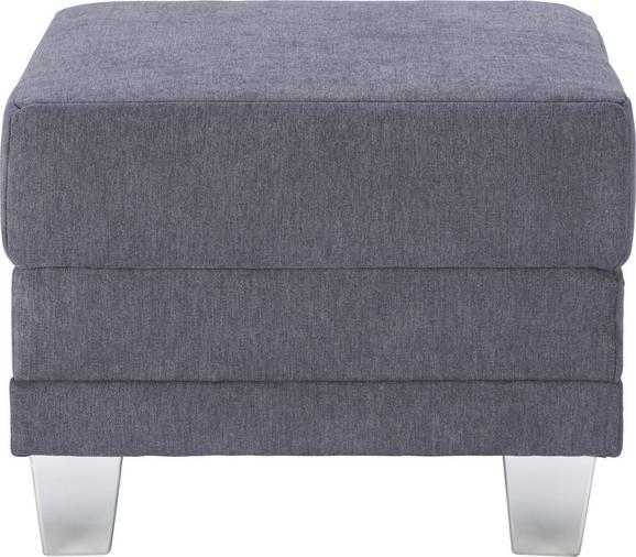 Hocker Anthrazit - Chromfarben/Dunkelgrau, MODERN, Kunststoff/Textil (60/46/60cm) - Modern Living