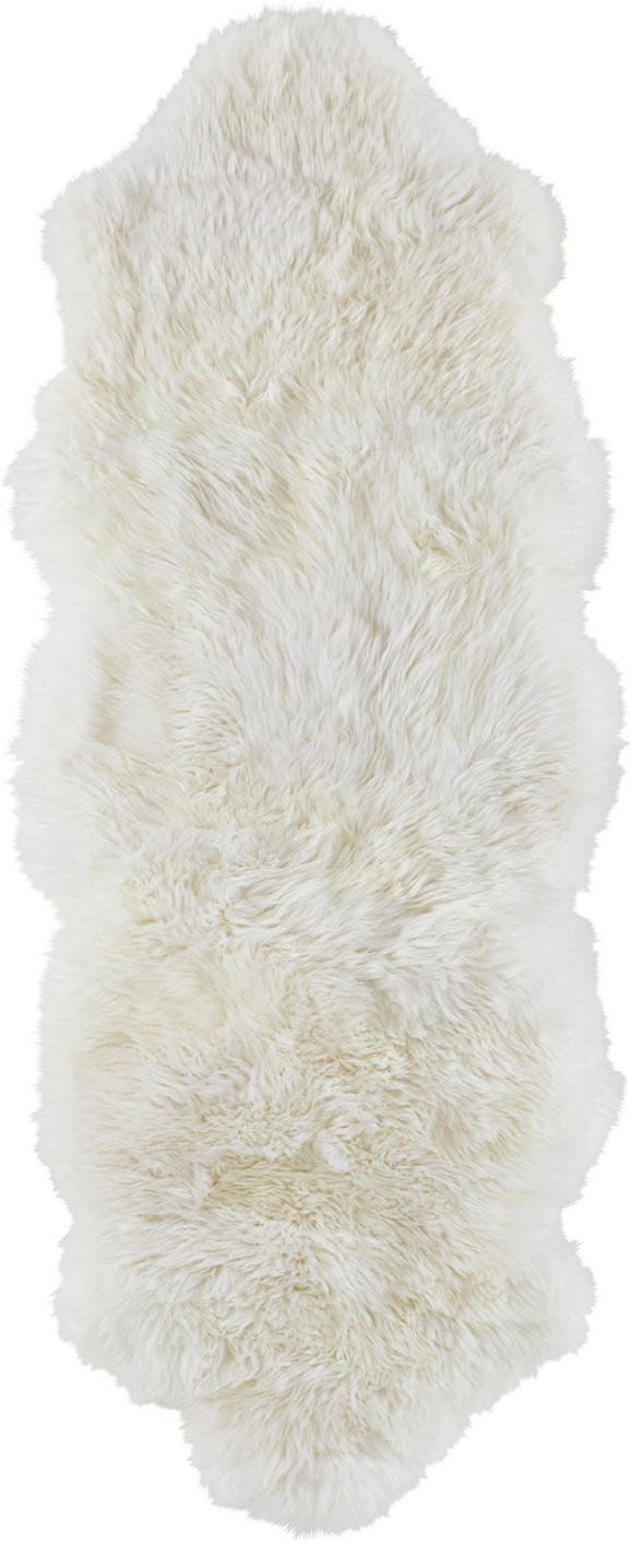 Schaffell Polaris Weiß 45x130cm - Weiß, ROMANTIK / LANDHAUS, Weitere Naturmaterialien (45/130cm) - Mömax modern living