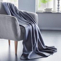Fleecedecke Anni 130x170cm - Grau, KONVENTIONELL, Textil (130/170cm) - Mömax modern living