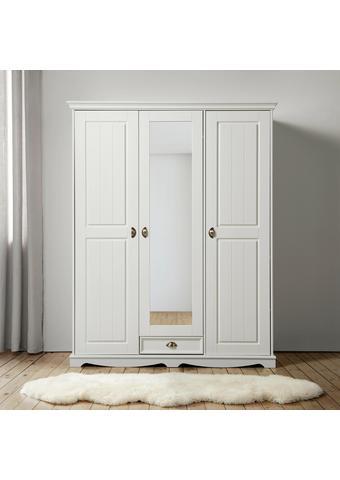 KLEIDERSCHRANK in Weiß 'Claudia' - Weiß, Holz/Metall (156/194/59,5cm) - Bessagi Home
